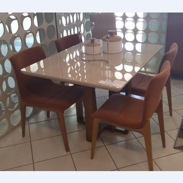 Cadeira Godan Madeira Damasco Tecido 1306