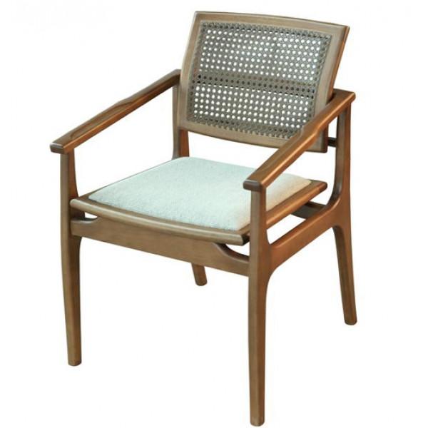 Cadeira Helena 02 New com Encosto em Tela com Braço