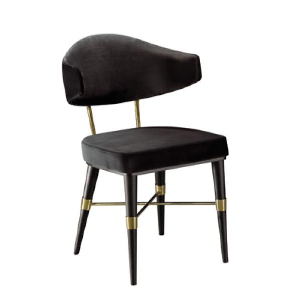 Cadeira Hard com encosto estofado sem braço