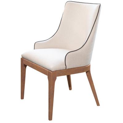 Cadeira Beatrice 02 com encosto estofado sem braço