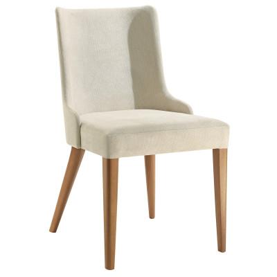 Cadeira July com Encosto Estofado sem Braço