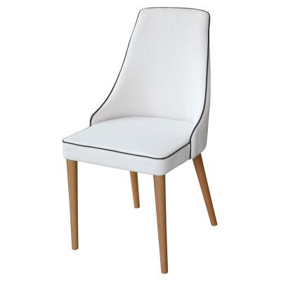 Cadeira Luna 02 com encosto estofado sem braço
