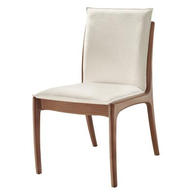 Cadeira Mirela 02 com encosto estofado sem braço