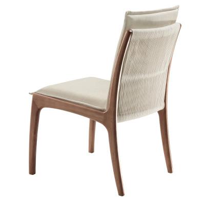 Cadeira Mirela com encosto estofado sem braço