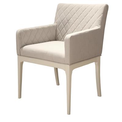 Cadeira Sharon 02 com encosto estofado e braço