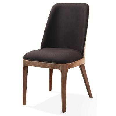 Cadeira Anne Plus com encosto de madeira estofado sem braço