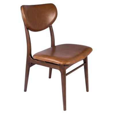 Cadeira Barbara New 02 com encosto de madeira estofado sem braço