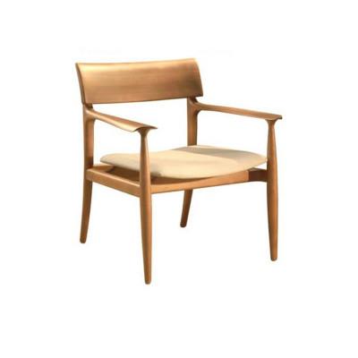 Cadeira Carol com Encosto de Madeira com Braço