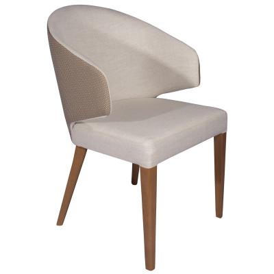 Cadeira Willians New com encosto estofado com braço