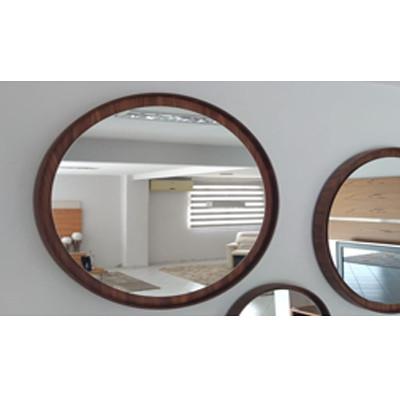 Espelho Sol Acabamento Nogueira