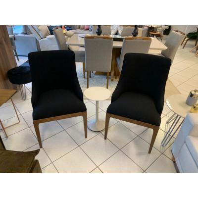 Cadeira Beatrice 02 com encosto estofado sem braço tecido 1281