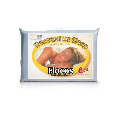 Travesseiro Castor Sleep Flocos Selecionados 45 X 65 X 12 - 75% Algodão 25% Poliester