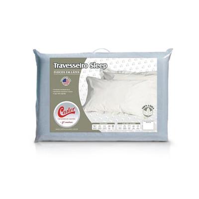 Travesseiro Castor Latex Flocos 45 X 65 X 15 - 100% Algodão