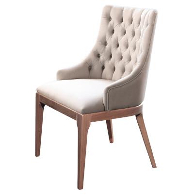 Cadeira Beatrice Captonê com encosto estofado sem braço