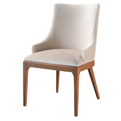 Cadeira Beatrice com encosto estofado sem braço