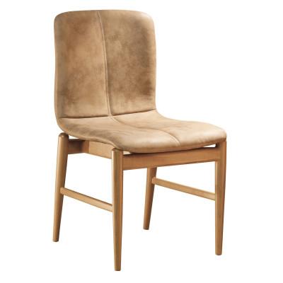 Cadeira Bebel com encosto estofado sem braço