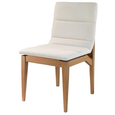 Cadeira November com encosto estofado sem braço