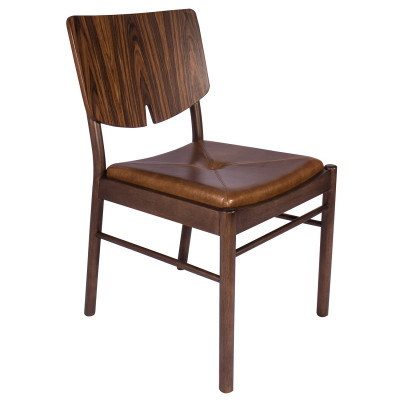 Cadeira Áurea com encosto de madeira sem Braço