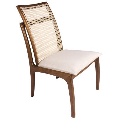 Cadeira Dalila 01 encosto em tela sextavada sem braço
