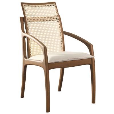Cadeira Dalila 01 encosto em tela sextavada com braço