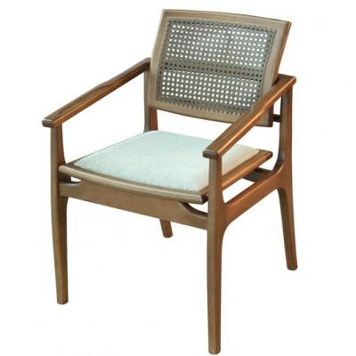 Cadeira Helena 02 New com Encosto em Tela Sextavada com Braço