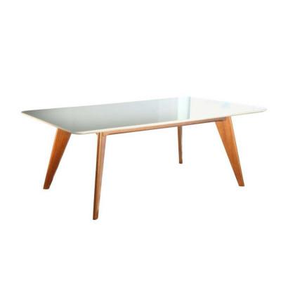 Mesa Fabia Com Tampo de Cristal